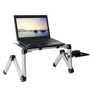 Портативний столик для ноутбука с вентиляцией Laptop Table T6, черный