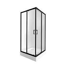 Набір Qtap душова кабіна Taurus BLA1099SC6 Clear + піддон Unisquare 309915