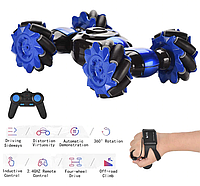 Детская машинка трансформер перевёртыш Stunt LH-C019S, машинка на пульте управления, управления жестами рукой