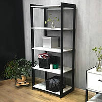 Стеллаж этажерка в стиле лофт Metal & Wood H-700-5