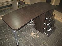 Коричневый маникюрный стол  Модель А57, фото 1