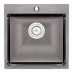 Кухонна мийка Qtap D5050BL Black 2.7/1.0 мм (QTD5050BLPVD10)