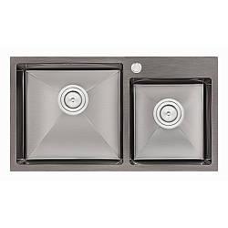 Кухонна мийка Qtap S7843BL Black 2.7/1.0 мм (QTS7843BRPVD10)