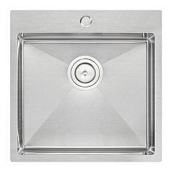 Кухонна мийка Qtap D5050 Satin 2.7/1.0 мм (QTD505010)