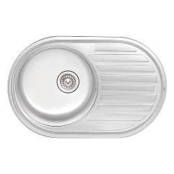 Кухонна мийка Qtap 7750 Satin 0,8 мм (QT7750SAT08)