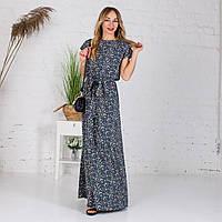 Довге жіноче плаття в квітковий принт. 44-46,48-50,52-54, 56-58.