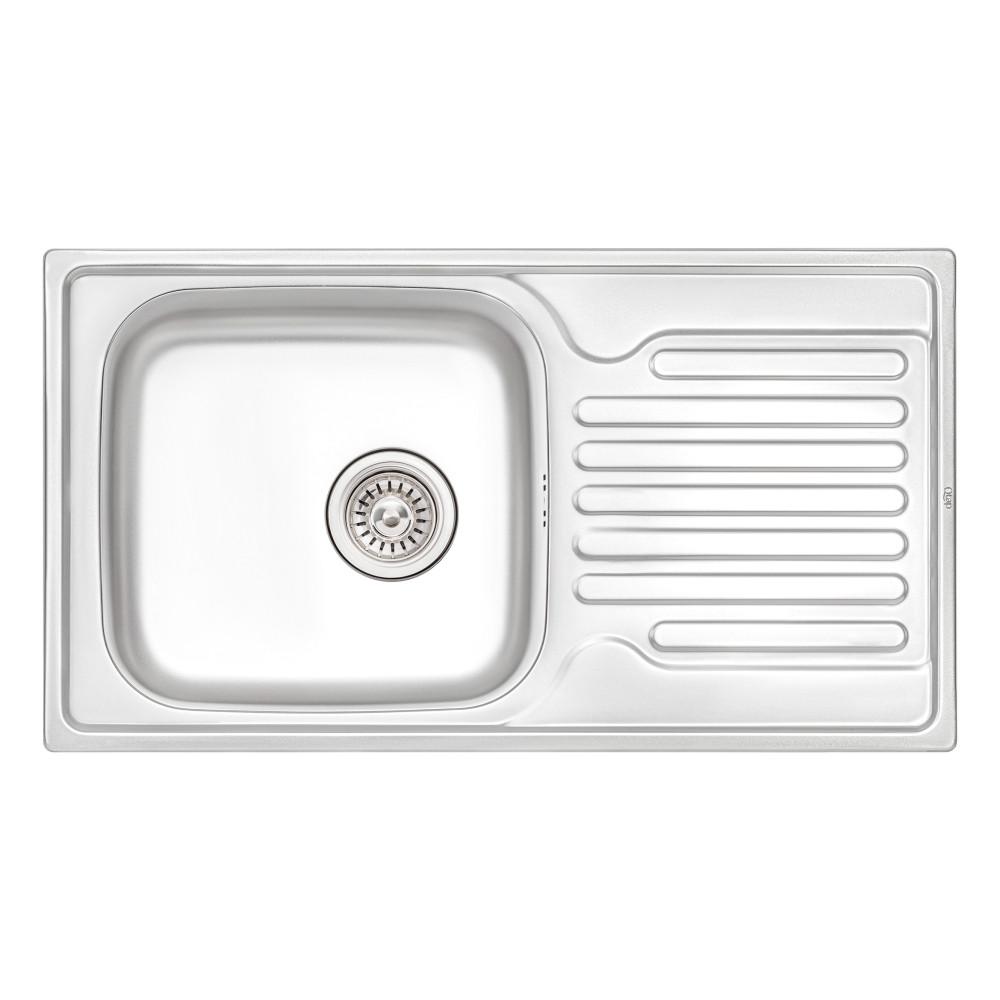 Кухонна мийка Qtap 7843 Satin 0,8 мм (QT7843SAT08)