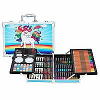 Набор для детского творчества и рисования Painting Set 145 предметов Blue