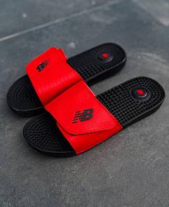 Мужские тапочки New Balance Black Red