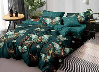 Полуторный комплект постельного белья «Сказочная бабочка» 147х217 см из сатина