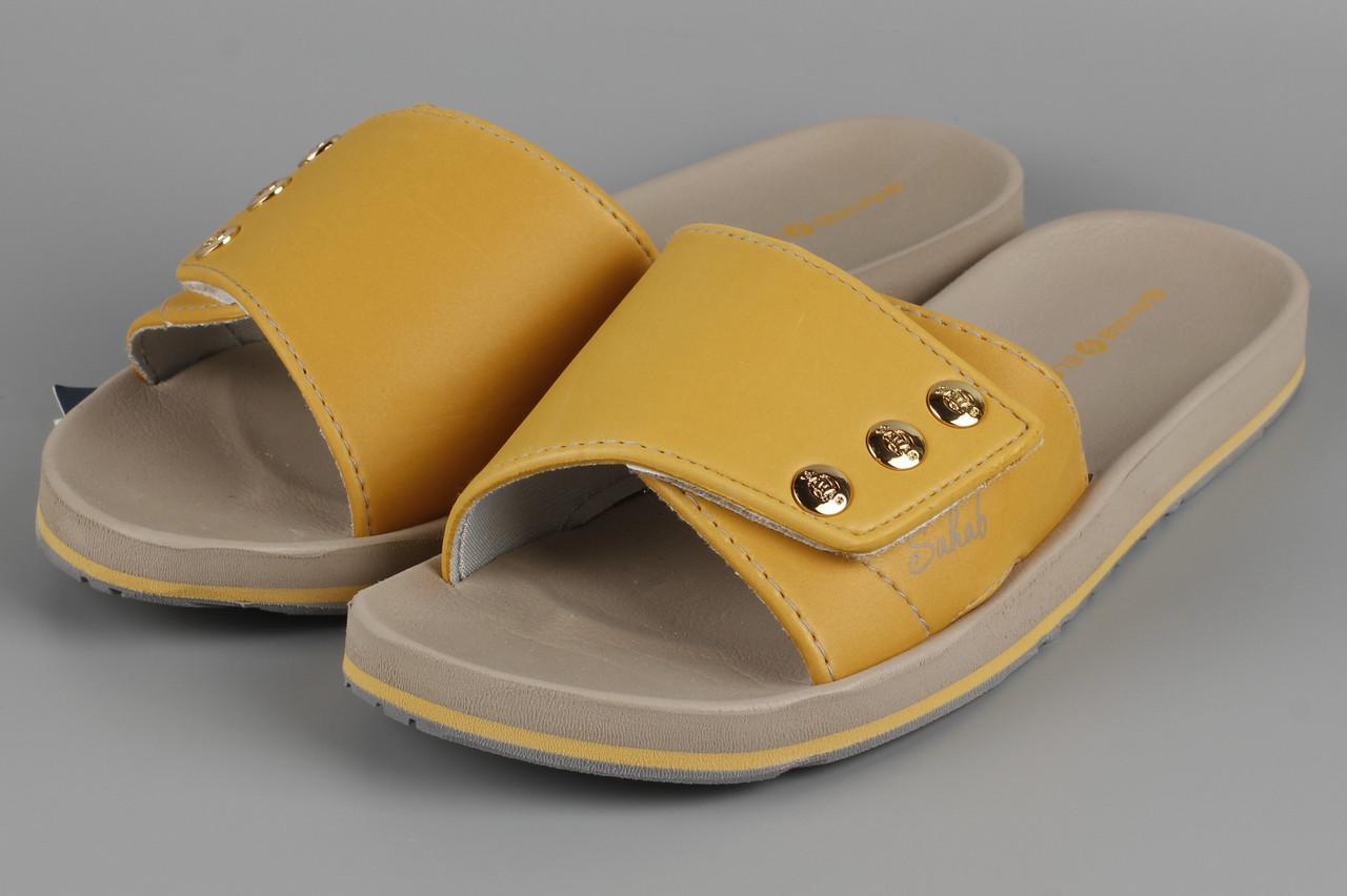 Шльопанці жіночі жовті Sahab Сахаб Розміри 37 39
