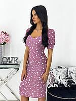 Женское нежное облегающее платье из штапеля длины миди (Норма), фото 2