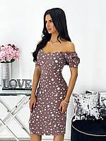 Женское нежное облегающее платье из штапеля длины миди (Норма), фото 4