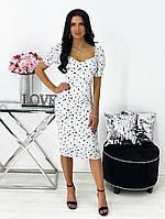 Женское нежное облегающее платье из штапеля длины миди (Норма), фото 5