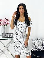 Женское нежное облегающее платье из штапеля длины миди (Норма), фото 6