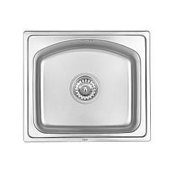 Кухонна мийка Qtap 4842 Micro Decor 0,8 мм (QT4842MICDEC08)