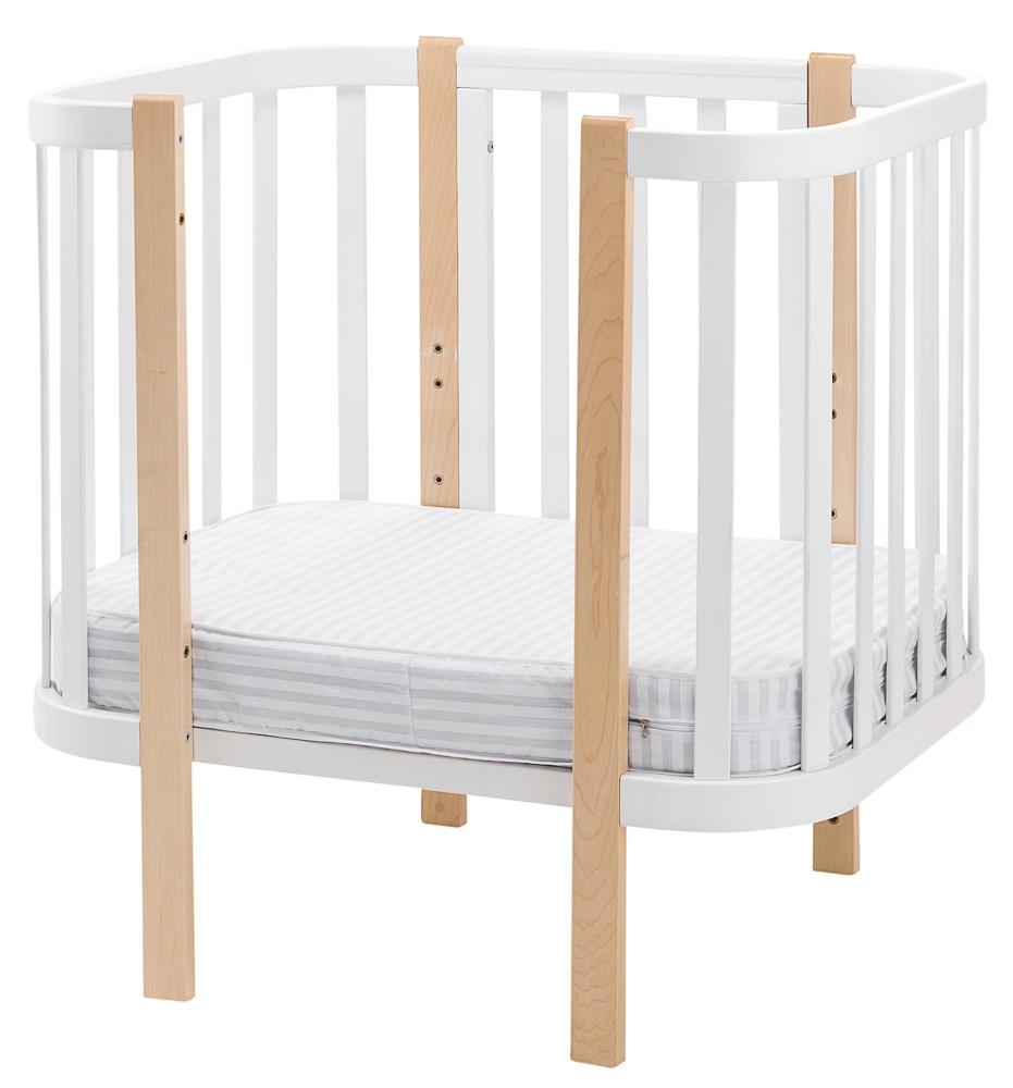 Матрас Babyroom Oval OKPK-80 (кокос, поролон, кокос) - 11 см.  белый
