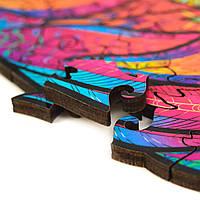 Деревянный фигурный пазл Лев А3 (42х30см) 185 деталей, фото 4