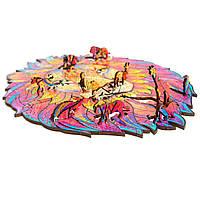 Деревянный фигурный пазл Лев А3 (42х30см) 185 деталей, фото 5