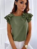 """Річна жіноча блуза з воланами """"Teresa"""" В І, фото 4"""