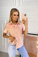 Сорочка лляна з кишенею жіноча (ПОШТУЧНО), фото 1
