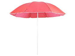 Пляжна парасолька від сонця з захистом від UV-променів (Червоний) для пляжу без оборки 1.5м (Зонт)