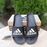 Мужские летние шлепки в стиле Adidas черные
