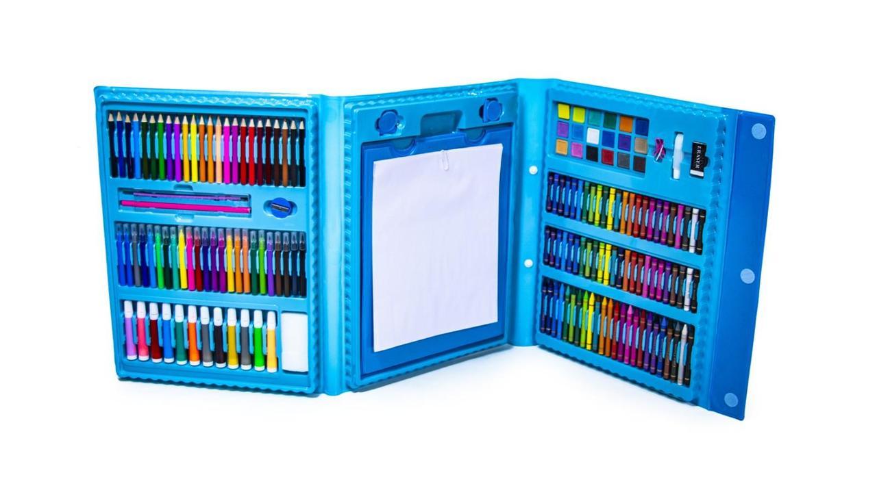 Канцелярский набор 208 голубой оптом