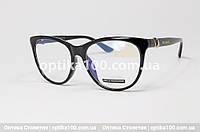 Жіноча чорна оправа для окулярів у стилі Bvlgari, фото 1