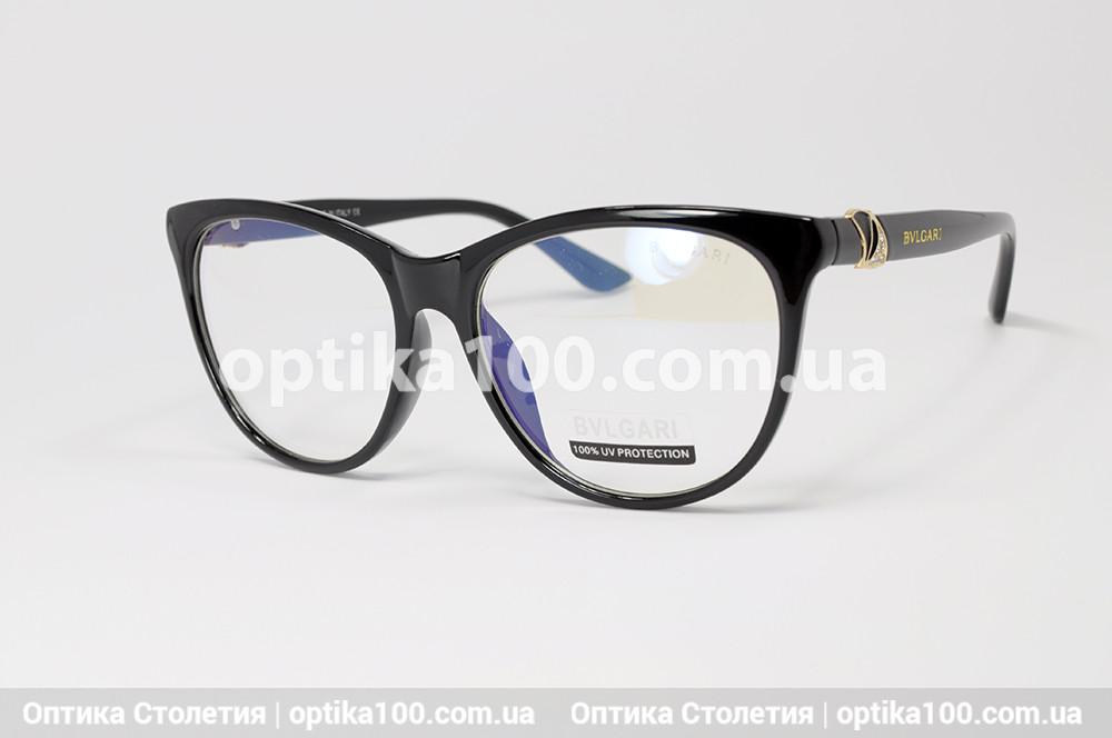 Жіноча чорна оправа для окулярів у стилі Bvlgari