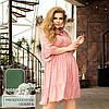 Платье с оборками, розовый