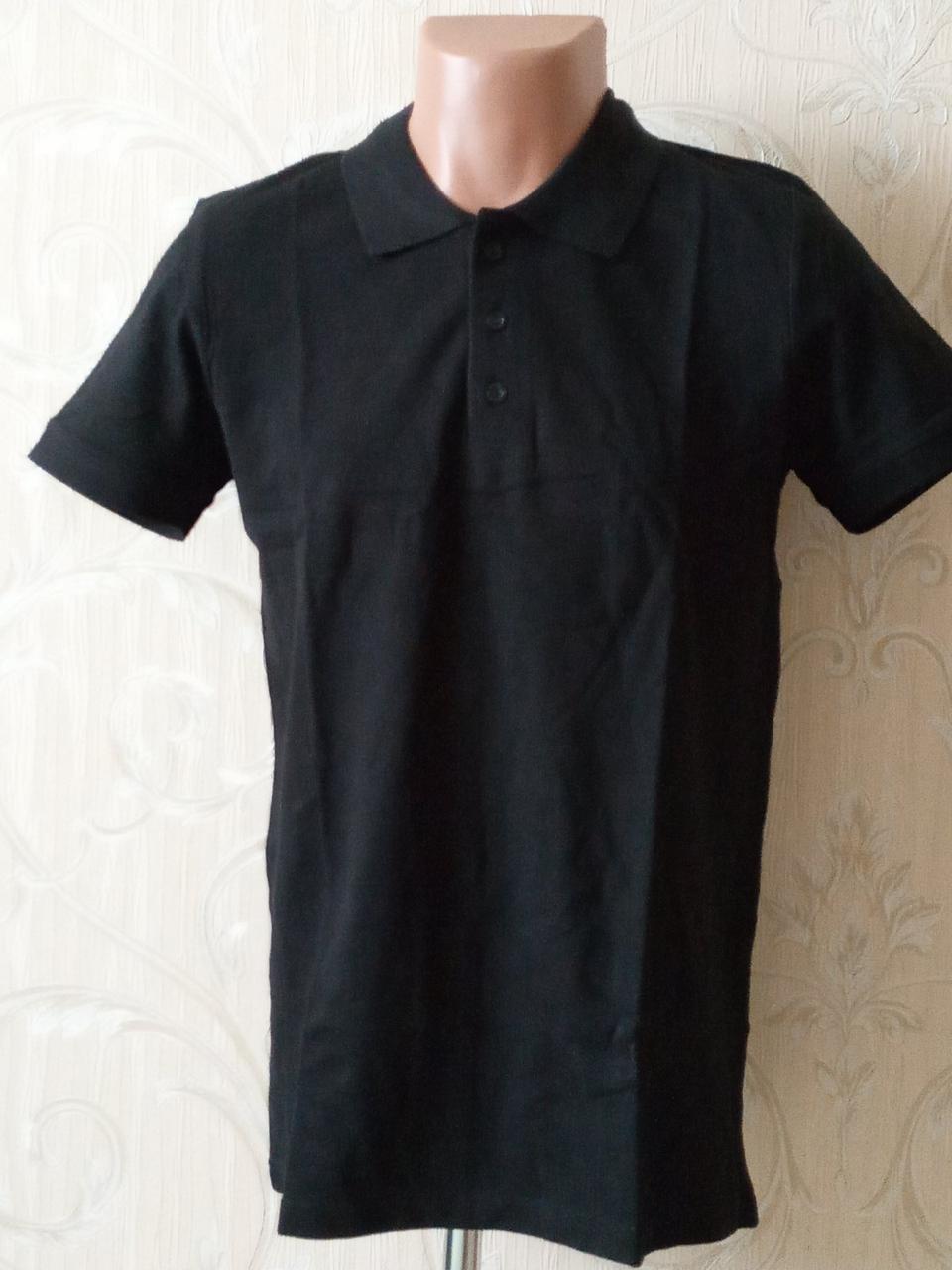 Футболка чоловіча поло з короткими рукавами 100% бавовна Узбекистан розмір L (48-50)