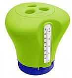 Аква Старт набор для бассейна 3в1 химия + дозатор с термометром (1 кг=5таб* 200г, 75мм ), фото 4