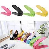 Подвійна стійка для взуття Supretto (набір 10 шт) Shoe Slotz Різнобарвний, фото 4