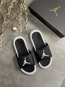 Мужские тапочки Jordan Black White