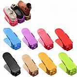 Подвійна стійка для взуття Supretto (набір 10 шт) Shoe Slotz Різнобарвний, фото 2