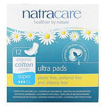 Гигиенические прокладки  Natracare Ultra Pads Super из органического хлопка стандартные Натуркеа 12 шт