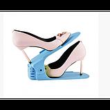 Подвійна стійка для взуття Supretto (набір 10 шт) Shoe Slotz Різнобарвний, фото 5