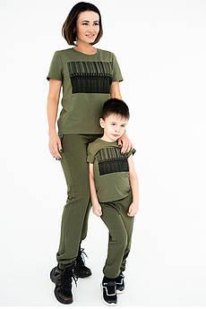 Модні жіночі штани Байк двухнітка