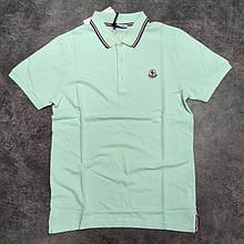 Мужская футболка поло Moncler CK2644 мятная