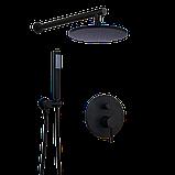 Душевой гарнитур 2 в 1 WanFan душевая система стационарный душ кран Черный, фото 5