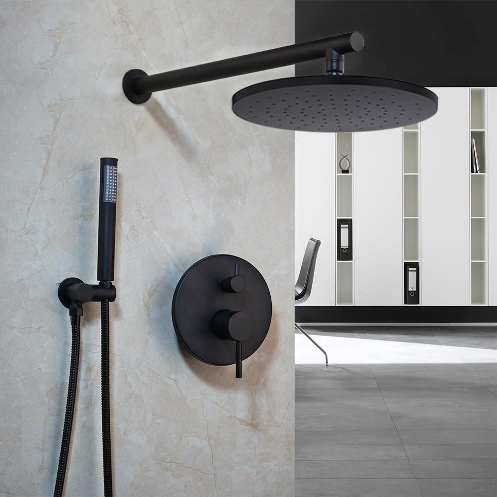 Душевой гарнитур 2 в 1 WanFan душевая система стационарный душ кран Черный