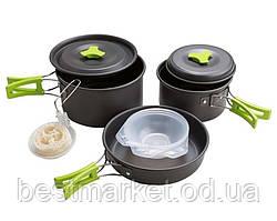Набір Туристичного Посуду 9 Предметів Cooking Set DS-300