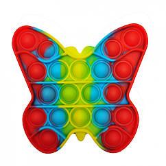 Антистресс игрушка-пупырка POP-IT Попит PPT-B Бабочка Разноцветный
