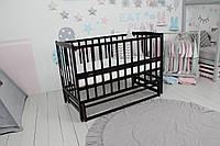 Кровать Baby Comfort ЛД2, маятник+фиксатор, откидной бок, бук, венге