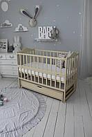 Кровать Baby Comfort ЛД3, ящик, маятник+фиксатор, откидной бок, бук, слоновая кость