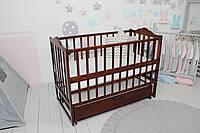 Ліжко Baby Comfort ЛД3, ящик, маятник+фіксатор, відкидний бік, бук, горіх