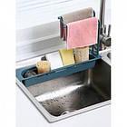 ОПТ Органайзер для кухонної раковини Sink Holder, тримач для губки і миючого засобу з вішалкою, фото 7