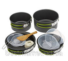 Набір Туристичного Посуду 10 Предметів Cooking Set DS-301