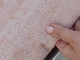 Літня Махрова Бамбукова Простирадло Покривало 200*220 см Євро Розмір Бежева Однотонна Туреччина Sofia Soft, фото 5